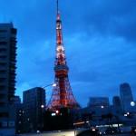 行きの東京タワー