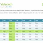 [JavaScript] テーブルにカーソルハイライト機能をつける「Tablecloth」