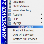 [Windows] WAMP Server 2.0i で開発環境
