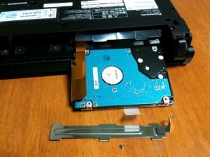 HDDを引きずり出したところ