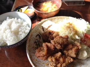 鶏唐揚げユーリンソース定食