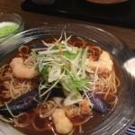 揚げ海老と茄子の冷麺