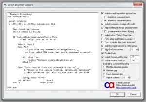 Excel 2010 の VBA のコードを自動的に整形したい:解決