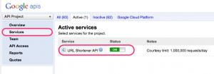 goo.gl(Google の短縮 URL サービス) の API を PHP で利用する方法