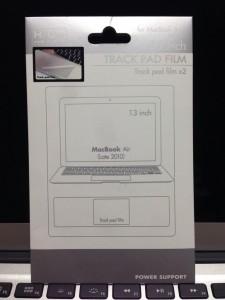 パワーサポート トラックパッドフィルム for MacBook Air 13 PTF-73