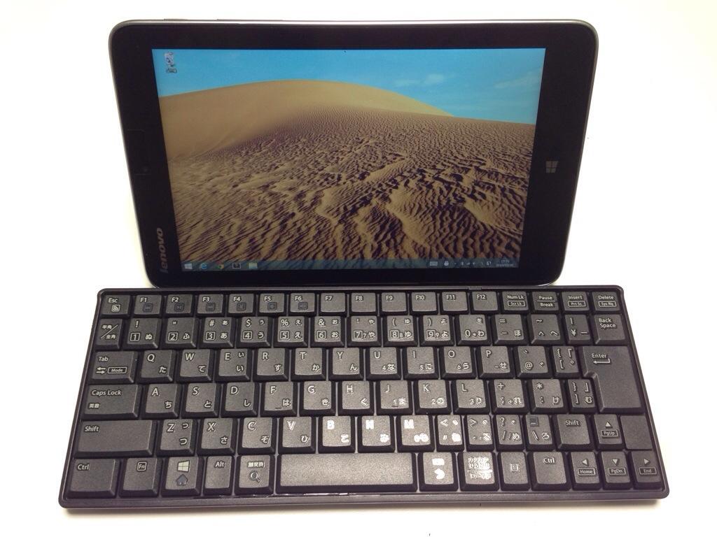 お買い物♪ Miix2 8 のようなタブレットもおけるスタンド付き Blutooth キーボード 9novo TK-FBP069