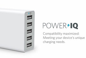Anker 40W 5ポート USB急速充電器 PowerIQ搭載