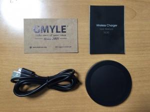 置くだけで充電ができるQi対応GMYLE T-200 付属品