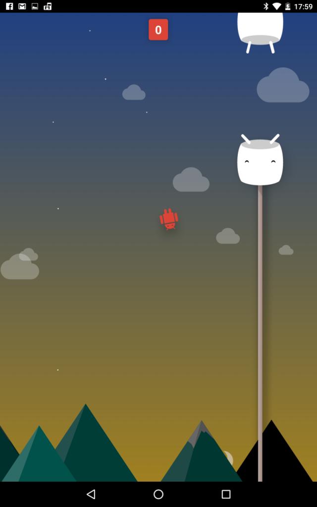 Android 6.0のFlappy Bird