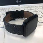 Kartice for Fitbit Versa高品質レザーバンド 全体像