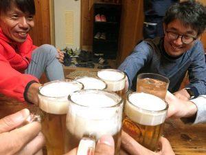 宮古島ワイドーマラソン レース終了後の乾杯