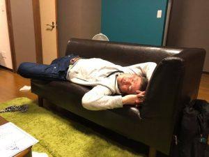 宮古島ワイドーマラソン 疲れて寝る