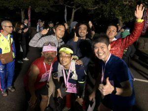 宮古島ワイドーマラソン ゴール後に集合