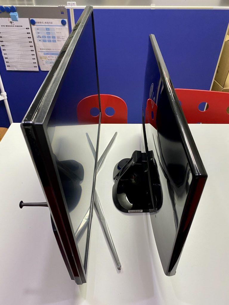 ViewSonic VX3211-4K-MHD-7 LGモニターとの比較 横から