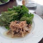 前菜:地鶏ササミと4種の木の子マリネ