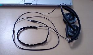 ゼンハイザー PX-200 のケーブルを三つ編み