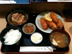 カキフライ・肉豆腐