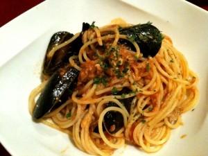 海老、ムール貝、お魚のスパゲッティー