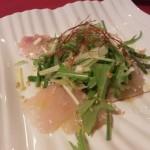 高知産直お魚黒鯛のカルパッチョ