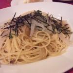 独活と白魚の和風 スパゲッティー