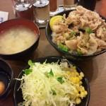 伝説のすた丼餃子セットミニ丼