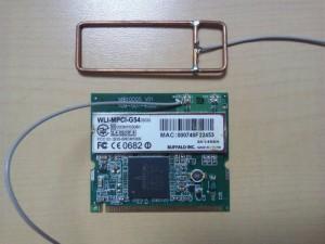 ミニPCIの無線LANとヘンテナ